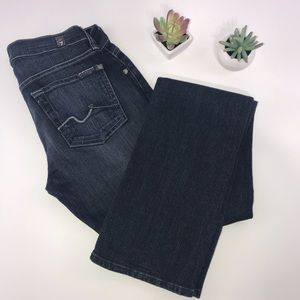 4313 7FAM 7 For All Mankind Straight Leg Jeans 25